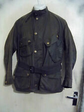 Barbour A7 International Costume Ciré Veste Moto Taille C44 112 cm