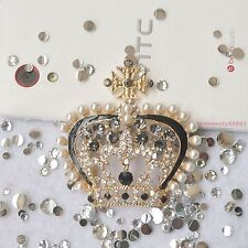 3D Alloy Bling Luxe Gem Crown DIY cell iPhone 4S 5G HTC Case Simple DECO Den KIT
