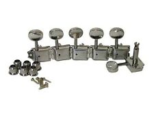 Dragonfire Vintage Tuners/ Tuning Keys, 6 Inline Right Hand, Chrome, Split Post!