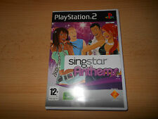 BRAND NEW NOT  SEALED SINGSTAR ANTHEMS FOR PLAYSTATION 2 PS2 SONY