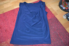 ROMAN SLEEVELESS  COWL NECK BLOUSE/TOP IN NAVY SIZE 14