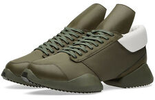 New RICK OWENS Boot-Camp Runners Army Green Sneakers x adidas 12.5 US 12 UK