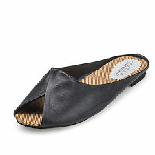 New Women Summer Causal Shoes Slippers Faux Leather Sandals Beach Mules  Black