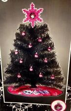 "MONSTER HIGH 24"" CHRISTMAS TREE SET 12 Ornaments Skirt Girls Tabletop Small NEW"