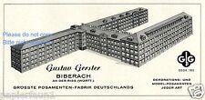 Posamenten Fabrik Gerster Biberach Riss Reklame von 1958 Grösste Deutschlands ad