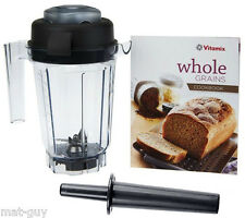 "Vitamix 32oz Dry Blade Container #56090 + ""Whole Grains Cookbook"" + Mini Tamper"