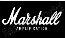 MARSHALL AMPLIFICATION FLAG BANNER POSTER SIGN - 3' X 5' amp