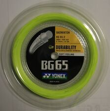 YONEX BG65 200M COIL BADMINTON STRING YELLOW COLOUR