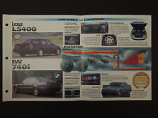 Lexus LS400 vs BMW 740i IMP Hot Cars Spec Sheet Folder Brochure