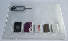 2 X SIM Card Holder Storage Case for 2 Micro & 3 Nano SIM cards + Iphone Pin