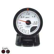 Boost Gauge 60MM Bar Boost White Face with Red & White LED Lighting Auto Gauge