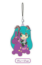 Vocaloid Cute Rody Hatsune Miku Grape Rubber Phone Strap Anime Manga NEW
