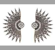 MARNI H&M Half Flower Crystal Earrings