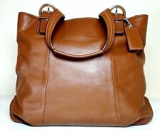 $320 COACH 'Soho North South' Chestnut-Tan Leather Tote-Handbag #17216
