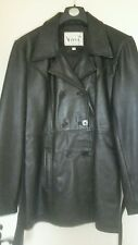 womans black real leather jacket 16