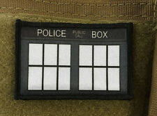 Police Box Dr Who Morale Patch Tardis Dalek Sonic Screwdriver 10th 9th
