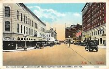 1925 Stores State Line Ave. looking South from 4th St. Texarkana TX post card