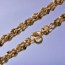 Womens/Mens Yellow Gold Filled Fashion Jewelry Long Pendant Chain Necklace