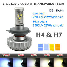 H4 H7 Car Motorcycle CREE LED DRL Headlight Bulb Lamp High Low Beam DC 12V-24V