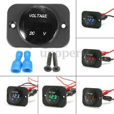 Car Marine Boat Motorcycle LED Digital Voltmeter Voltage Meter Gauge Waterproof