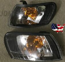 TOYOTA COROLLA 1993-1997 AE100 JDM CORNER LIGHTS BLACK HOUSING AFTERMARKET PAIR