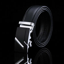 Genuine Leather Men's Automatic Buckle Belts Fashion Waist Strap Belt Waistband