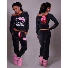 Ladies Women's Fashion Graphite Tracksuit Sport suit Size 12 - 14 UK Hello Kitty
