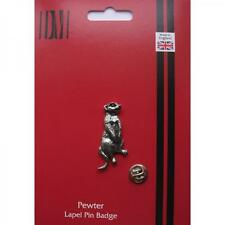 MEERKAT English Pewter Lapel Pin Badge Suricate Mongoose Present GIFT BOX