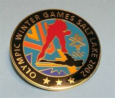 SALT LAKE CITY 2002 Olympic Games Speed Skaters Reflections Logo PIN Collectible