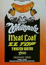 Whitesnake-Castle Donington Monsters Of Rock 1983-concert poster