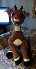 "Giant Rudolph The Red Nose Reindeer Plush 44"" Tall"