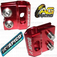 Apico Red Brake Hose Brake Line Clamp For Honda CRF 250R 2008 08 Motocross