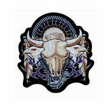 Biker Dream Catcher V Twin Eagle Büffel Skull Aufbügler Aufnäher Patch Backpatch