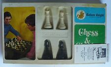 "VINTAGE ARRCO GALLANT KNIGHT STAUNTON CHESS SET COMPLETE WEIGHTED FELTED 3"" KING"