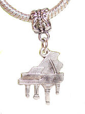 Grand Piano Music Musical Instrument Dangle Bead for European Charm Bracelets