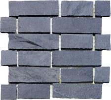 Brickwall Schiefer Schwarz Mosaik Granit Fliesen Naturstein Mauerverblender