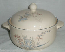 Noritake KILKEE Round Covered Casserole Dish Bowl 1995 Butterfly