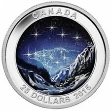 Canada 2015 $25 1oz Star Charts:The Eternal Pursuit Glow in the Dark Silver Coin