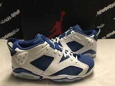 NIB Nike Air Jordan Retro 6 VI Low Seahawks Ghost Green Blue Shoes Mens 11 NEW