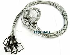 """3 Snares Wire 1/8 7x7 84"""" long Sure Lock Hog Snares Boar Traps Animal Trapping-L"""