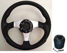 300MM STEERING WHEEL & BOSS KIT FIT VW GOLF GTI GOLF MK3 CADDY LUPO POLO TEAM