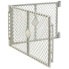 NEW 2 Panel Extension in Gray for Big Tall Play Yard Playpen DUAL Enclosure Gate