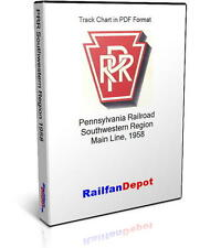 Pennsylvania Railroad Southwestern Track Chart 1958 - PDF on CD - RailfanDepot