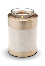 Pet Cremation Ashes Candle Holder Keepsake (Mother of Pearl)