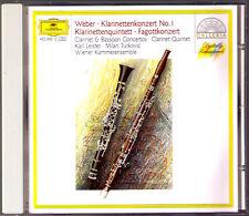 Karl LEISTER & Milan TURKOVIC WEBER Clarinet Bassoon Concerto Quintet KUBELIK CD