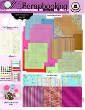 New Scrapbook Kit - Paper - Flower - Buttons - Brads / Crafts / Flowers & More!