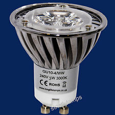 LED GU10 Light Bulb 4W Warm White High Power 40W Light Output Energy Saving New