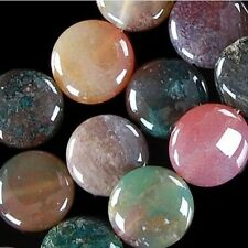 14mm Multicolor Agate Onyx Coin Gems Loose Beads 15''