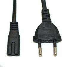 1.5m Black EU Plug Female 2 Pin Power Connector Extension Cable Cord dapter