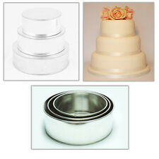 "3 TIER HEAVY DUTY ROUND CHRISTMAS CAKE TINS 6""8""10"""